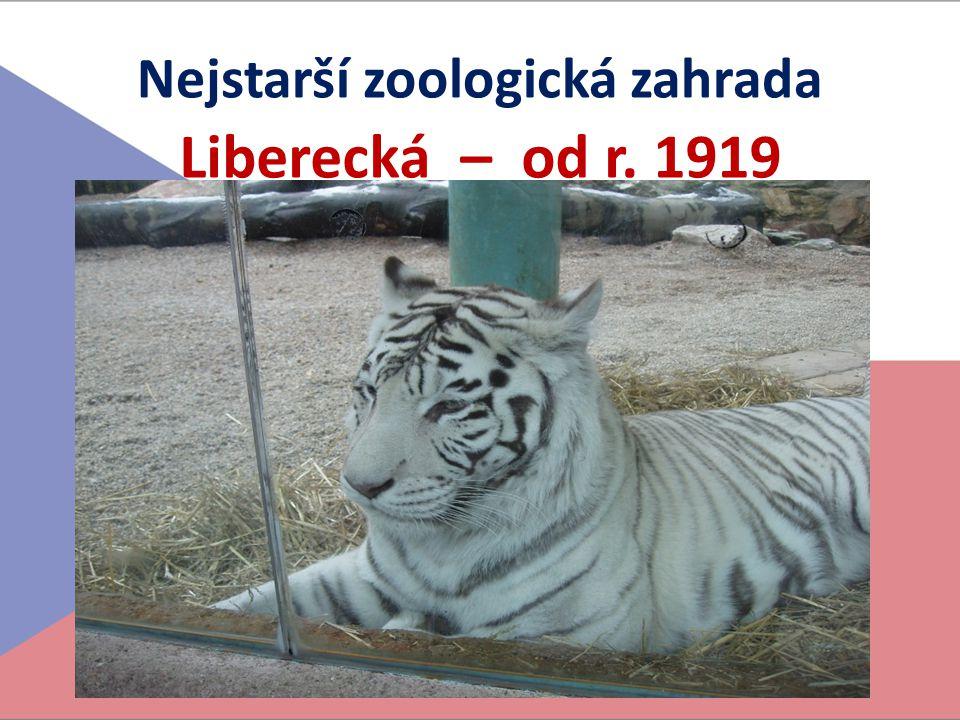 Nejstarší zoologická zahrada Liberecká – od r. 1919