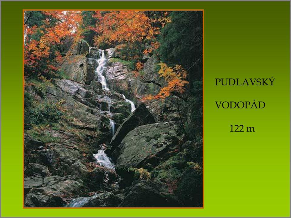PUDLAVSKÝ VODOPÁD 122 m