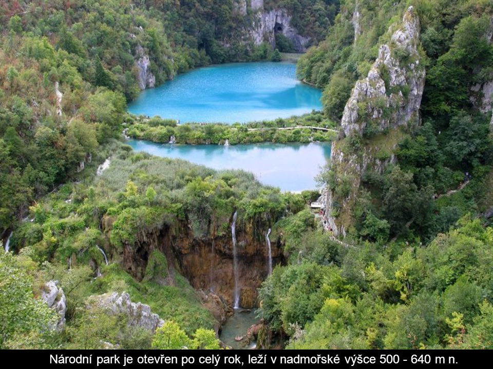 Národní park je otevřen po celý rok, leží v nadmořské výšce 500 - 640 m n.
