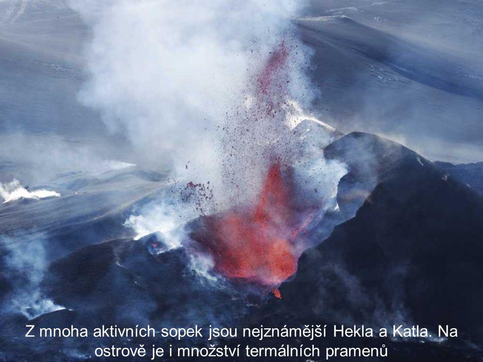 Island je proslulý svou sopečnou činností