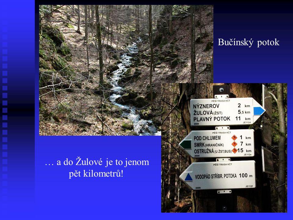 Stříbrný potok před a za hlavním vodopádem