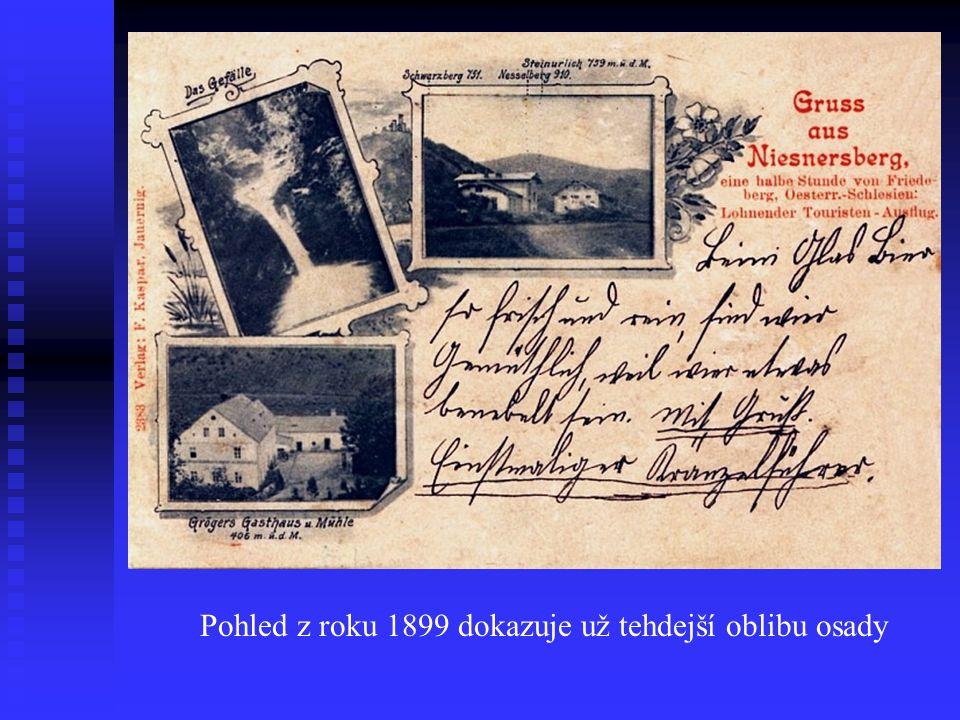 První zmínky o osadě Glaseberg jsou z roku 1612 a současný název Nýznerov (německy Niesnersberg) dostala koncem 18.