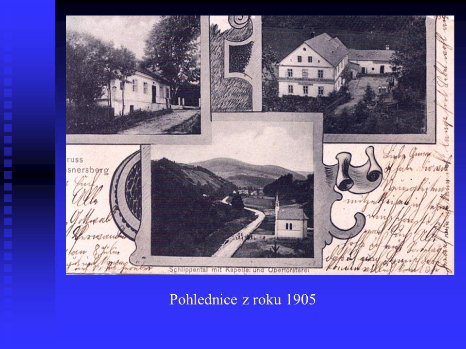Pohled z roku 1899 dokazuje už tehdejší oblibu osady