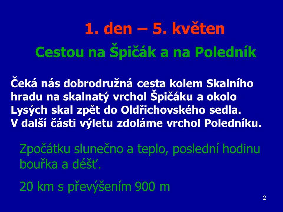 53 Po červené odbočíme doleva směr Předěl.