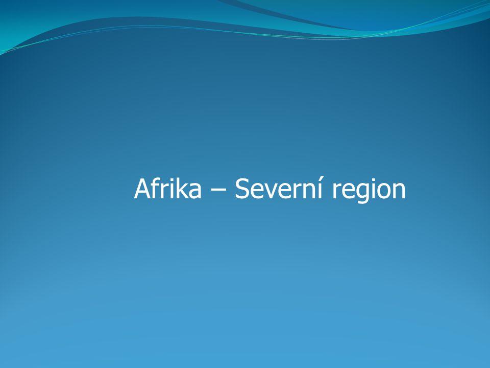 Severní Afrika Charakteristika: od zbytku afrického kontinentu oddělena pouští Sahara je nejsevernější části tohoto kontinentu.