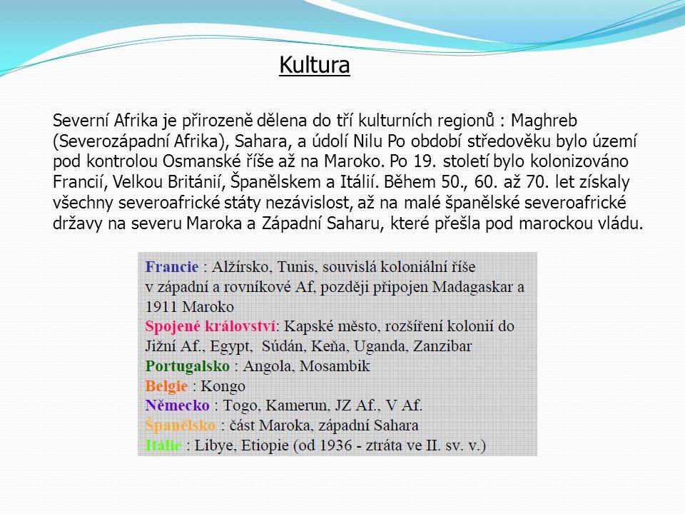 Úkoly: 1.Na mapě Afriky vyhledej všechny současné státy a zakresli je do mapy.