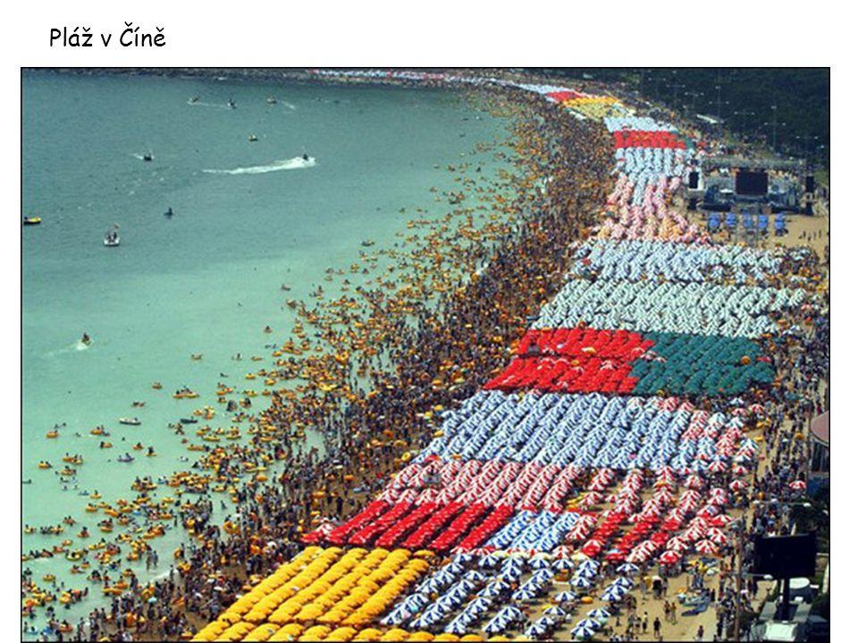 Pláž v Číně