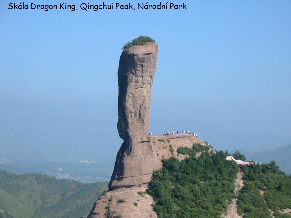 Skála Dragon King, Qingchui Peak, Národní Park