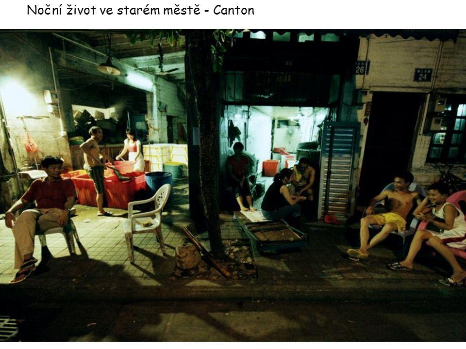 Noční život ve starém městě - Canton