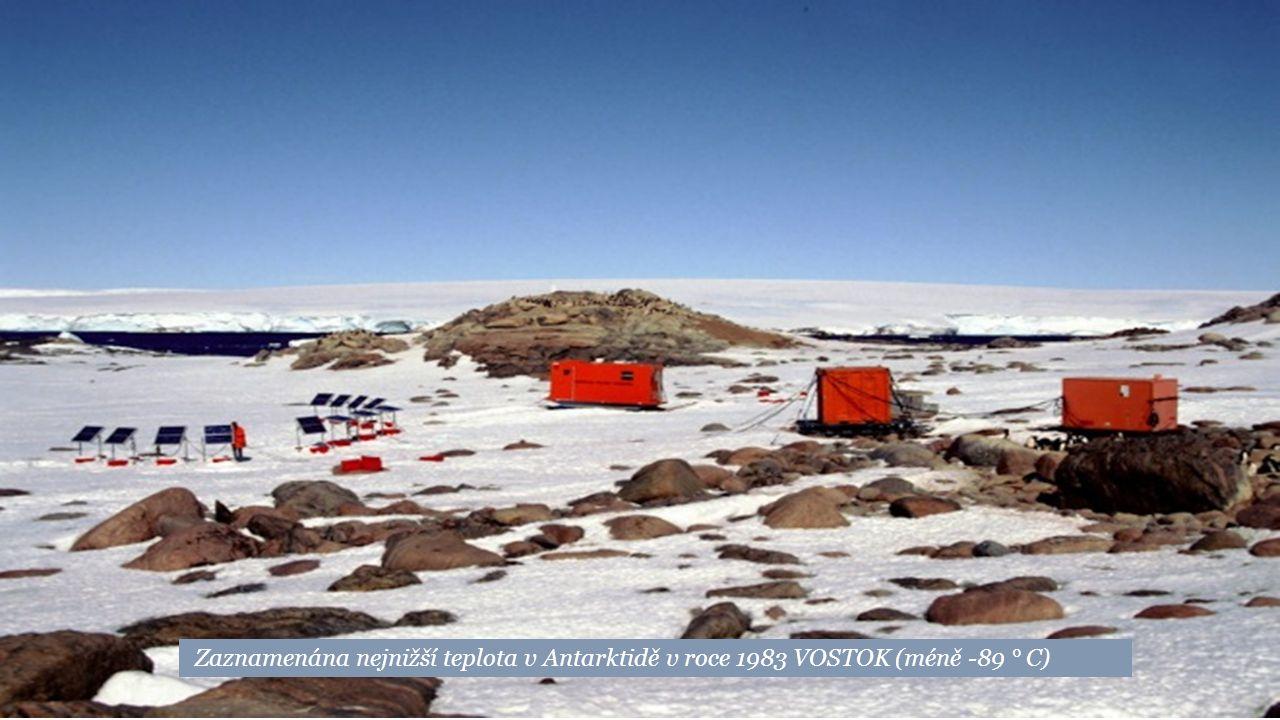 Nejchladnější obývaná oblast: Oblast Verchojansk SIBIŘ Ruska (až do -67 °C)