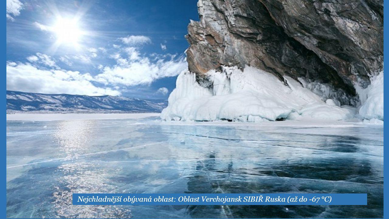 BAJKAL nejhlubší jezero v jižní Sibiři, nedaleko 1640m.