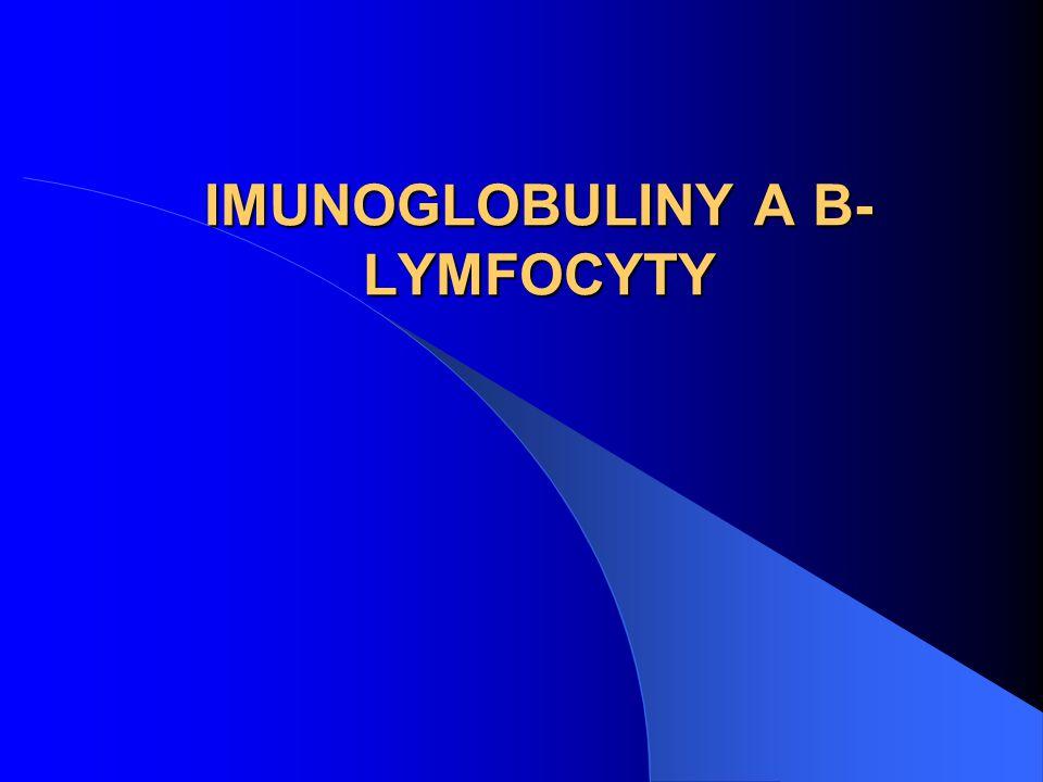 IMUNOGLOBULINY A B- LYMFOCYTY