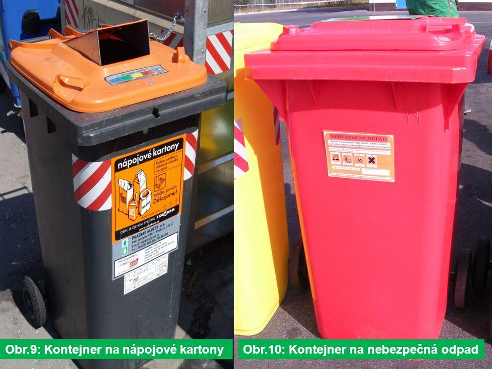 Obr.9: Kontejner na nápojové kartonyObr.10: Kontejner na nebezpečná odpad