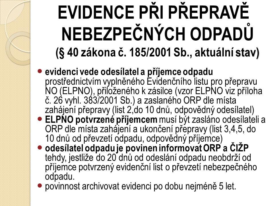 EVIDENCE ZAŘÍZENÍ S OBSAHEM PCB POZOR, novelou zákona č. 169/2013 Sb. byla zavedena ohlašovací povinnost i pro LEHCE KONTAMINOVANÁ ZAŘÍZENÍ PCB ! Záko