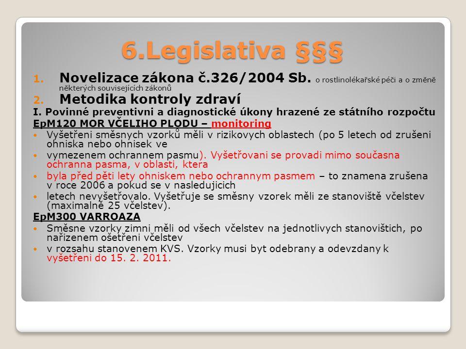 6.Legislativa §§§ 1.Novelizace zákona č.326/2004 Sb.