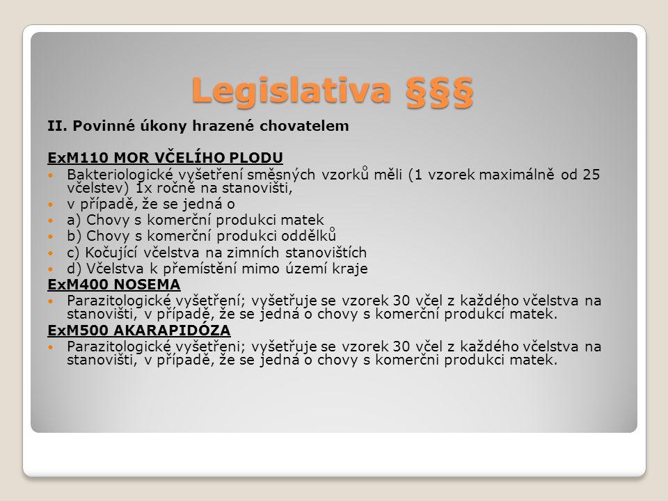Legislativa §§§ II.