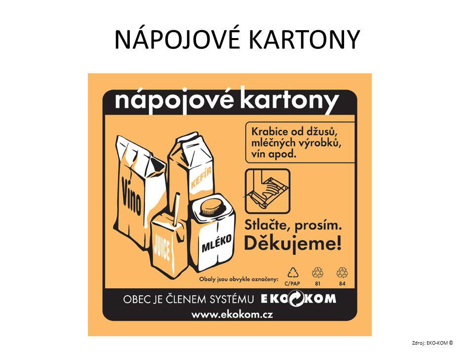 NÁPOJOVÉ KARTONY Zdroj: EKO-KOM ©