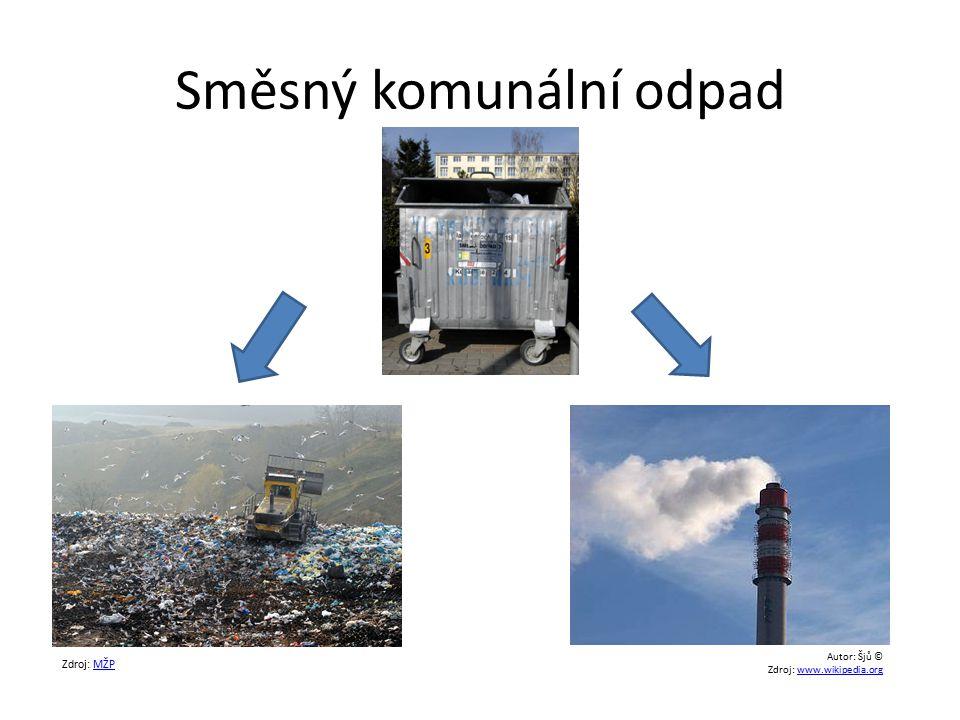 Směsný komunální odpad Zdroj: MŽPMŽP Autor: Šjů © Zdroj: www.wikipedia.orgwww.wikipedia.org