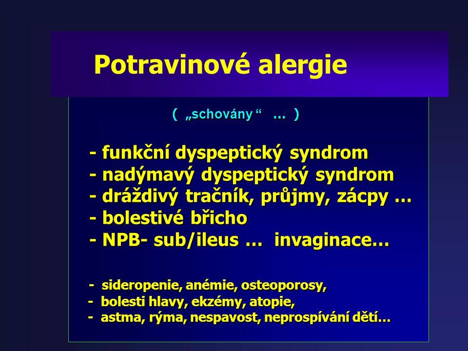 """"""" Definice: potravinová alergie """" """" Definice: potravinová alergie """" Potravinová alergie je chronický zánět Potravinová alergie je chronický zánět tráv"""