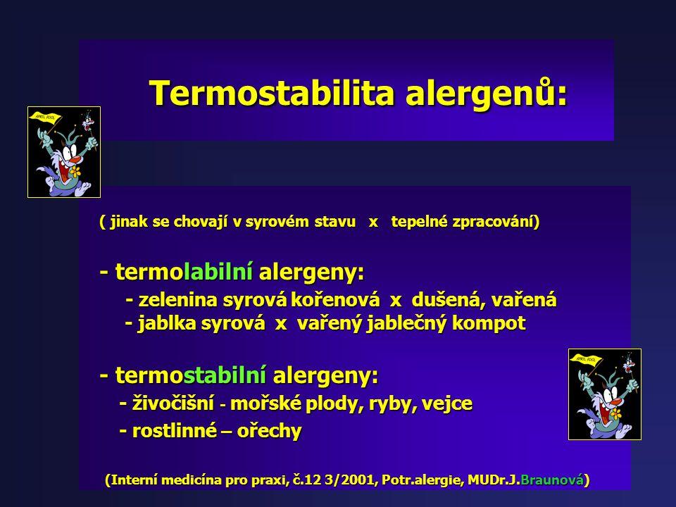 (alergen) - Alergen = Bílkovina (peptid, AK) - Alergen = Bílkovina (peptid, AK) = Glykoprotein (Bílkovina + = Glykoprotein (Bílkovina + poly/sacharide