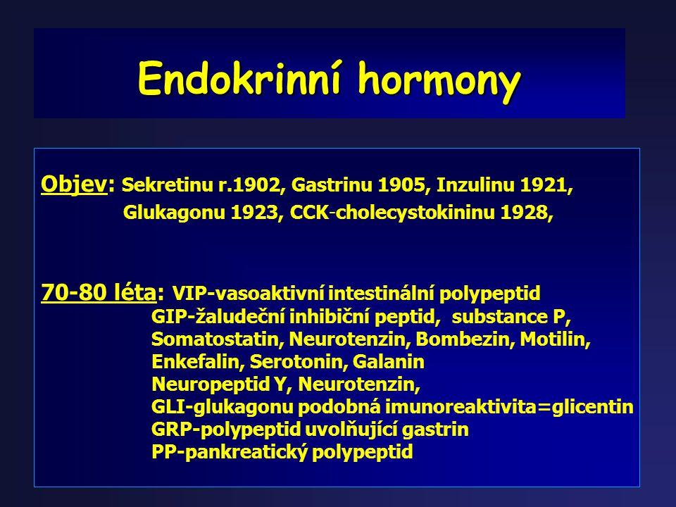Dalším problémem trávícího traktu je jeho endokrinní aktivita Dalším problémem trávícího traktu je jeho endokrinní aktivita Zde si můžeme položit otáz
