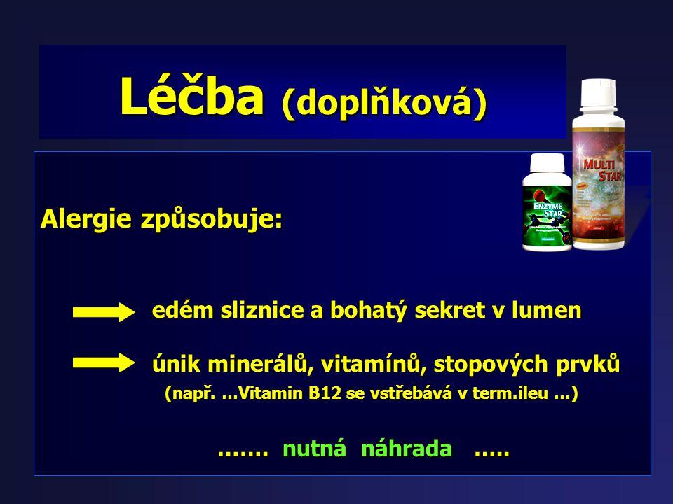 Nalcrom (dinatrii cromoglycas) Studie: Potravinová alergie dětí (6měsíců-3 roky): - 25 dětí kromoglykát x 29 dětí ketotifenu (Zaditen) - 4-20 týdnů Zá