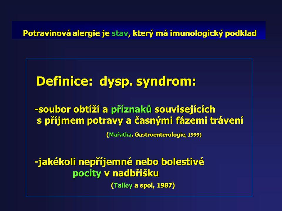 Definice: potravinová alergie Definice: potravinová alergie Potravinová alergie je stav, který musí Potravinová alergie je stav, který musí mít imunol