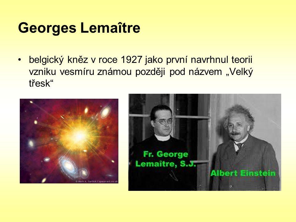 """Georges Lemaître belgický kněz v roce 1927 jako první navrhnul teorii vzniku vesmíru známou později pod názvem """"Velký třesk"""""""