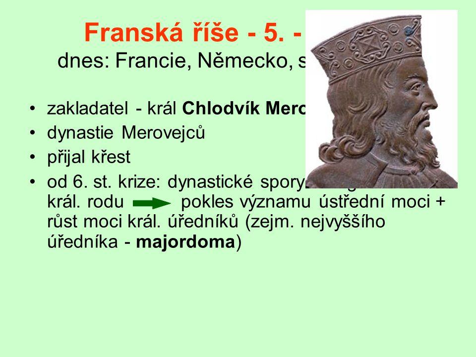 Franská říše - 5.- 9. stol.