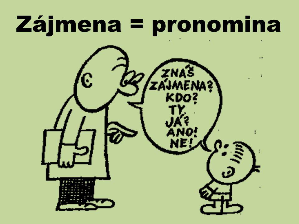 Zájmena = pronomina