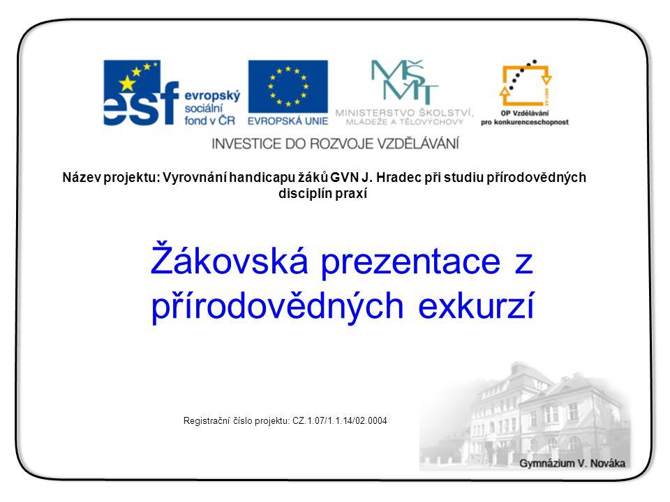 Název exkurze: Botanická exkurze Zpracovaly: Zlata Vojčíková Vlaďka Mrázková Petra Legény Jana Pešková Redigovali: RNDr.