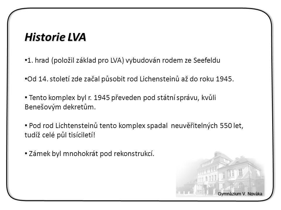 Historie LVA 1. hrad (položil základ pro LVA) vybudován rodem ze Seefeldu Od 14.