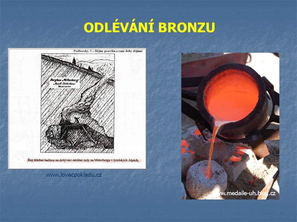 Kolem poloviny 3. tisíciletí př. n. l. – vynález nového kovu - bronzu slitina mědi (90 %) cínu (10 %) www.chem-web.info Výhoda – tvrdší, odolnější než