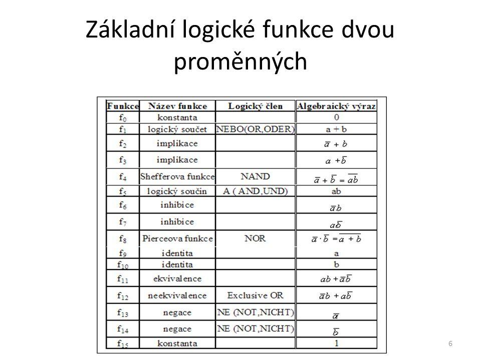 7 Pravdivostní tabulka - log.