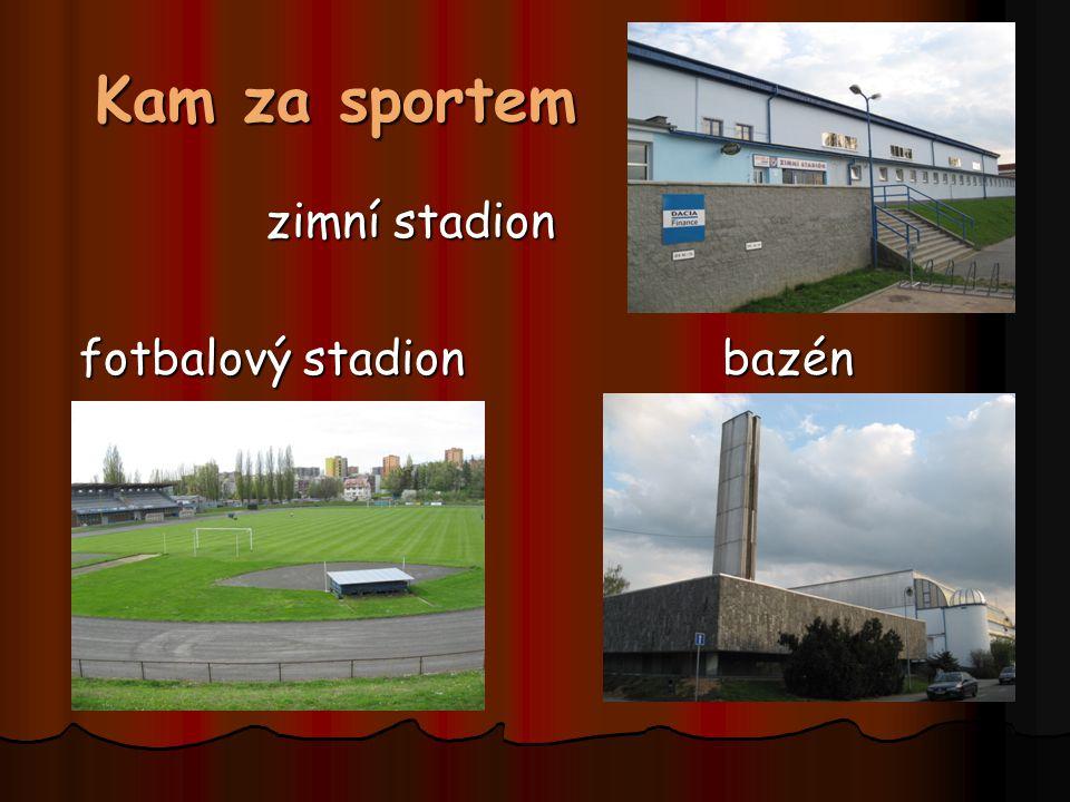 Kam za sportem zimní stadion zimní stadion fotbalový stadion bazén fotbalový stadion bazén