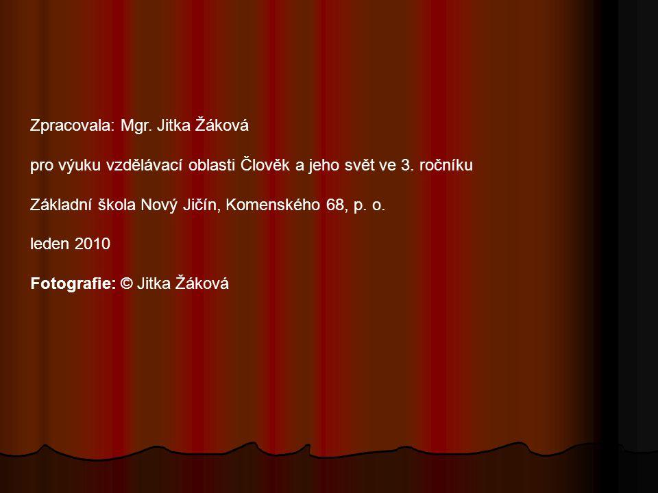Zpracovala: Mgr. Jitka Žáková pro výuku vzdělávací oblasti Člověk a jeho svět ve 3. ročníku Základní škola Nový Jičín, Komenského 68, p. o. leden 2010
