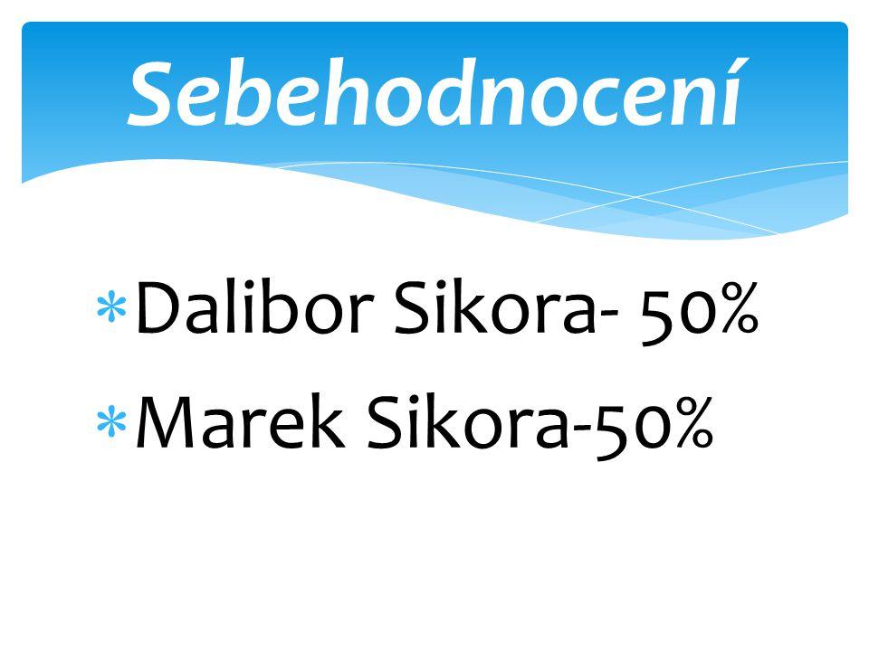  Dalibor Sikora- 50%  Marek Sikora-50% Sebehodnocení