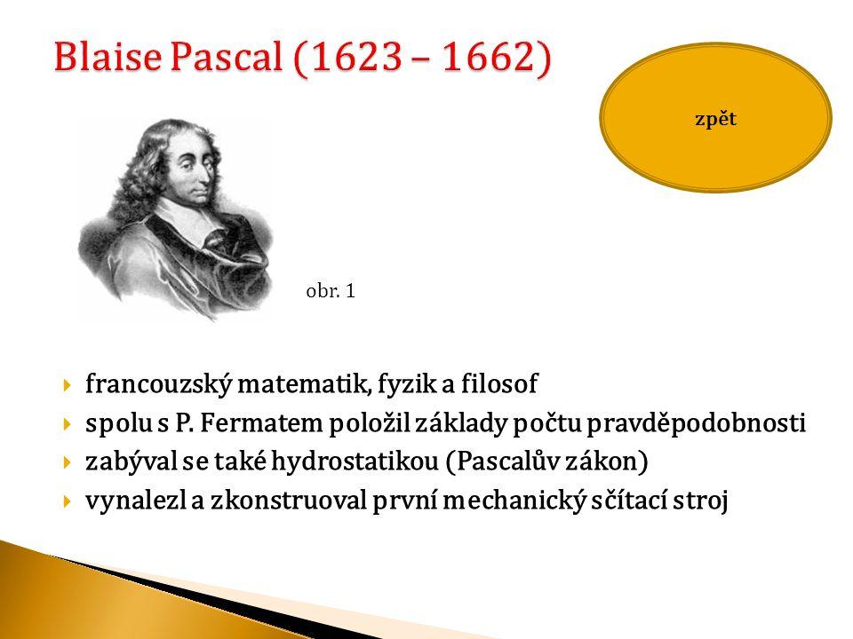  francouzský matematik, fyzik a filosof  spolu s P.