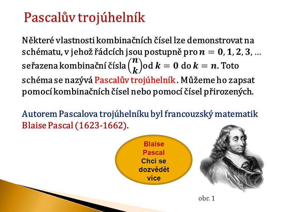 Blaise Pascal Chci se dozvědět více obr. 1