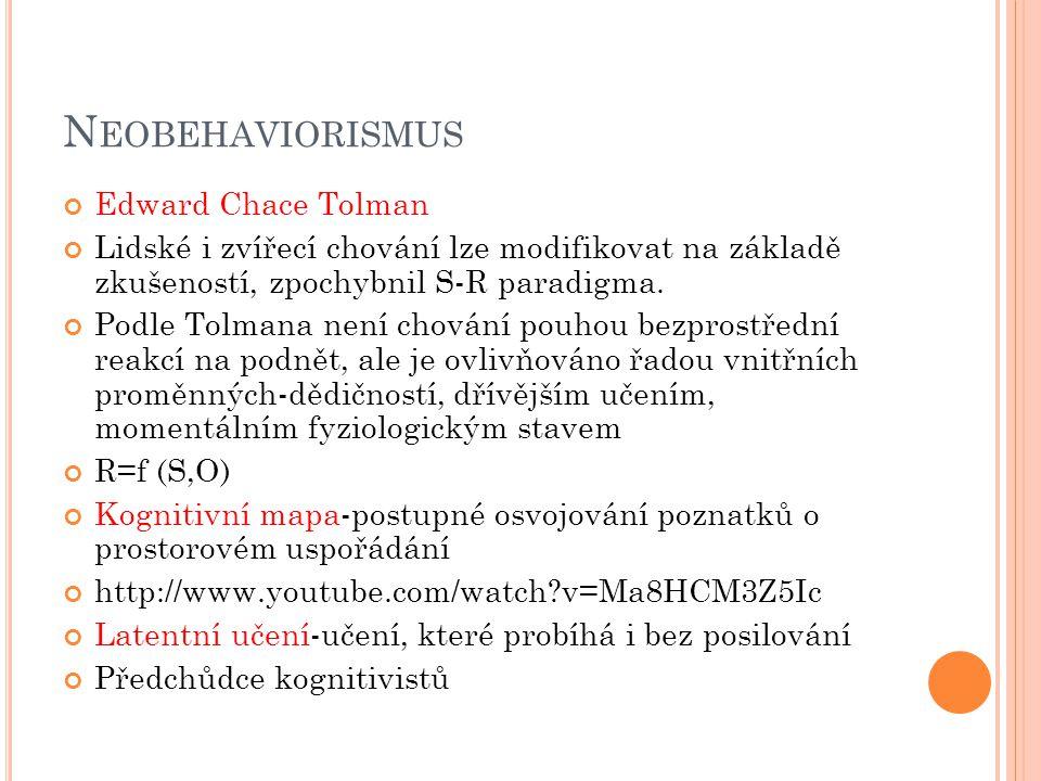 D OPORUČENÁ LITERATURA K TÉMATU Plháková, A.(2006): Dějiny psychologie.
