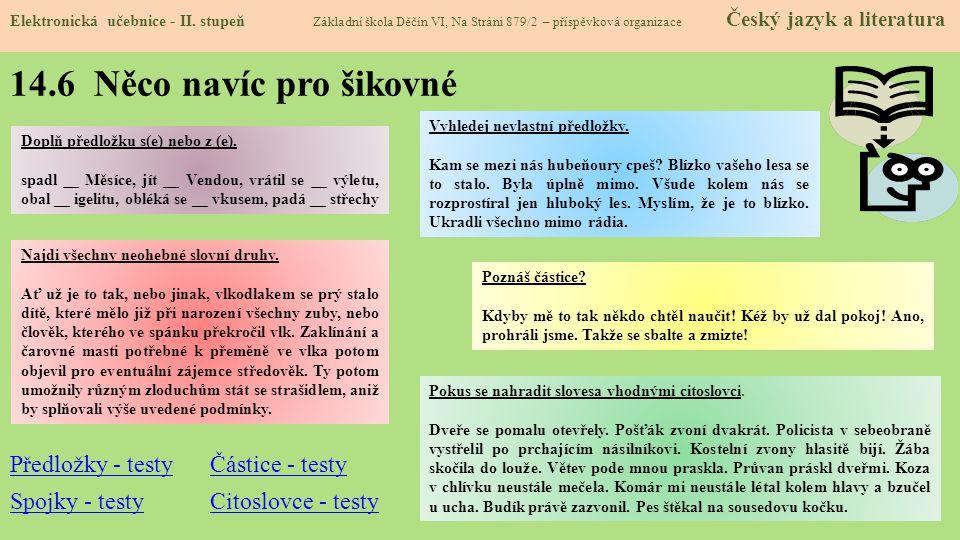 14.6 Něco navíc pro šikovné Elektronická učebnice - II.