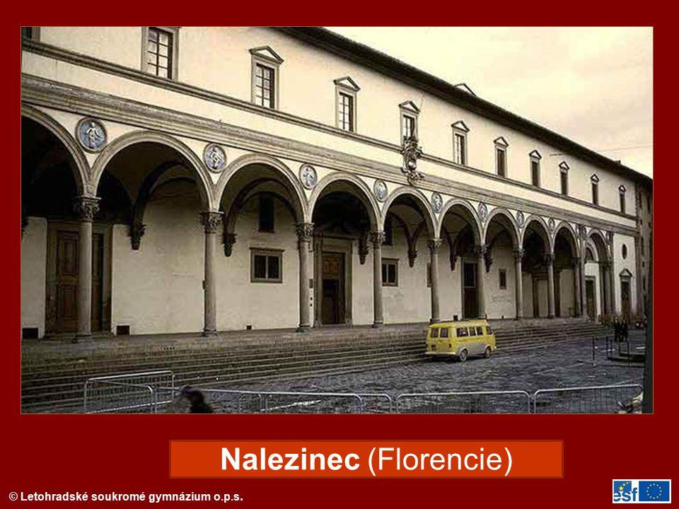 © Letohradské soukromé gymnázium o.p.s. Nalezinec (Florencie)