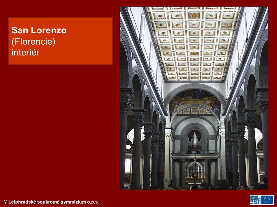 © Letohradské soukromé gymnázium o.p.s. San Lorenzo (Florencie) interiér