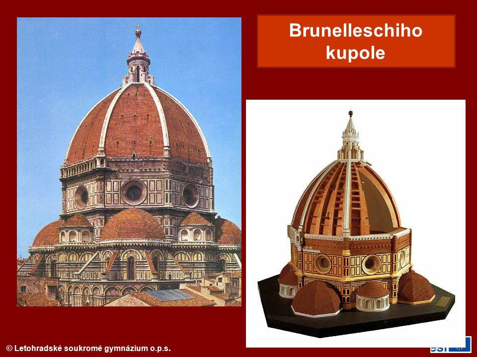 © Letohradské soukromé gymnázium o.p.s. Brunelleschiho kupole