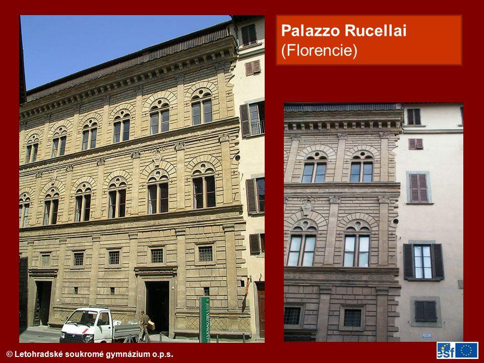 © Letohradské soukromé gymnázium o.p.s. Palazzo Rucellai (Florencie)