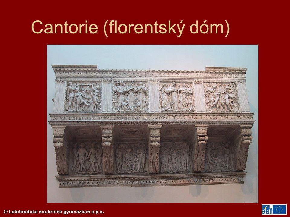 © Letohradské soukromé gymnázium o.p.s. Cantorie (florentský dóm)