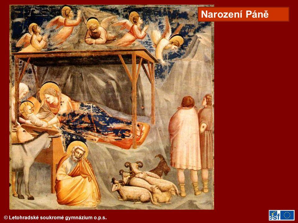 © Letohradské soukromé gymnázium o.p.s. Giotto Klanění tří králů, Padova
