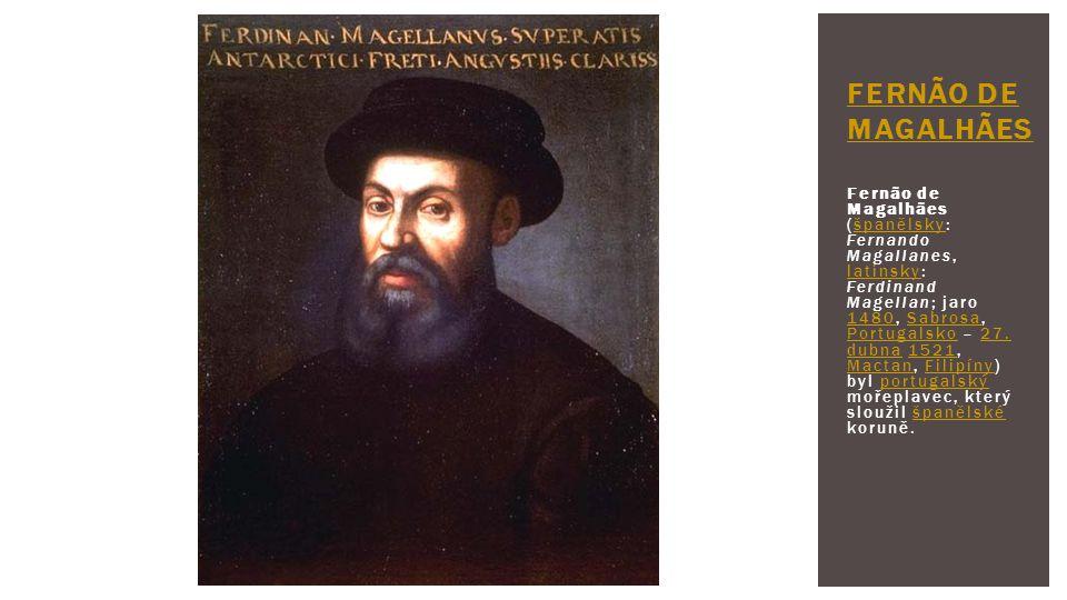 Fernão de Magalhães (španělsky: Fernando Magallanes, latinsky: Ferdinand Magellan; jaro 1480, Sabrosa, Portugalsko – 27. dubna 1521, Mactan, Filipíny)