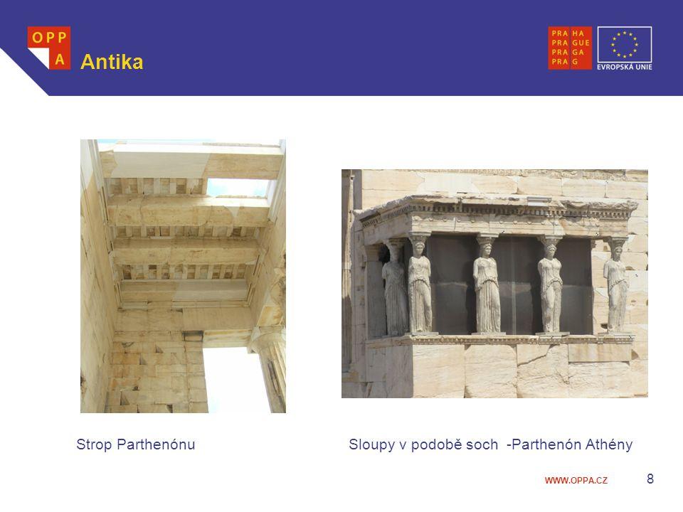 WWW.OPPA.CZ Antika Strop Parthenónu Sloupy v podobě soch -Parthenón Athény 8