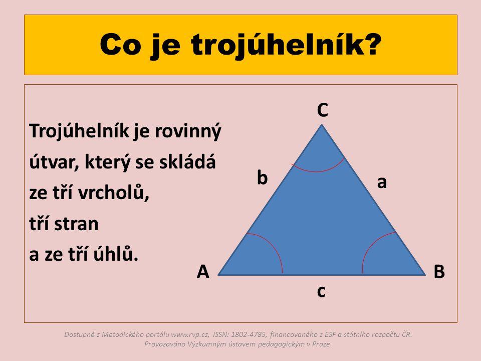 Co je trojúhelník.
